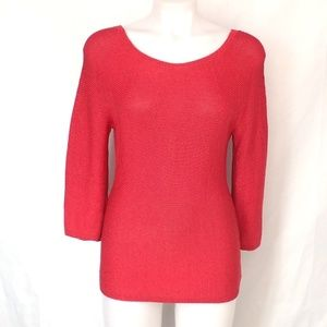 Coral Knit Scoop Neck Sweater